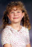6 1/2 years old, her 1st grade school picture