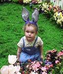 4 1/2 years old, at the mall's Spring Egg Hunt