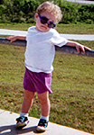 3 years old, at the Kennedy Space Center