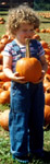 4 1/2 years old, at a pumpkin patch