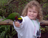 6 years old, at the Zoo